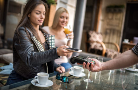 Contactless payment system with mobile phone
